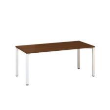 Alfa Office Alfa 200 irodai asztal, 180 x 80 x 74,2 cm, egyenes kivitel, dió mintázat, RAL9010% irodabútor