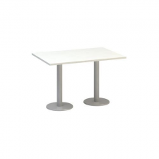 Alfa Office Alfa 400 konferenciaasztal szürke lábazattal, 120 x 80 x 74,2 cm, fehér mintázat% irodabútor