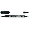 Alkoholos marker, 0,8/2 mm, kétvégű, PILOT Twin fekete (SCA‐TM‐B‐BG)