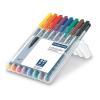 """ALKOHOLOS marker készlet, OHP, 0,6 mm, STAEDTLER """"Lumocolor 318 F"""", 8 különböző szín (TS318WP8)"""