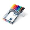 """ALKOHOLOS marker készlet, OHP, 1 mm, STAEDTLER """"Lumocolor 317 M"""", 8 különböző szín (TS317WP8)"""