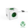 Allocacoc PowerCube Extended USB 1,5m 4-es zöld/fehér USB-s elosztó (1402GN/DEEUPC)