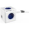 Allocacoc PowerCube Extended USB 1.5m fehér-kék