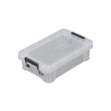 ALLSTORE Műanyag tárolódoboz, átlátszó, 0,8 liter, papírárú, csomagoló és tárolóeszköz