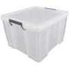 ALLSTORE Műanyag tárolódoboz, átlátszó, 48 liter, ALLSTORE