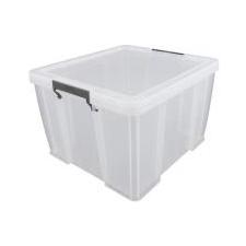 ALLSTORE Műanyag tárolódoboz, átlátszó, 48 liter, ALLSTORE papírárú, csomagoló és tárolóeszköz