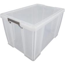 ALLSTORE Műanyag tárolódoboz, átlátszó, 85 liter, papírárú, csomagoló és tárolóeszköz