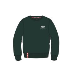 Alpha Indsutries Basic Sweater Small Logo - dark petrol