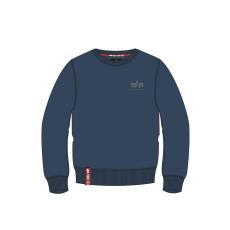 Alpha Indsutries Basic Sweater Small Logo - replica blue