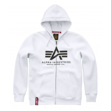 Alpha Indsutries Basic Zip Hoody - fehér