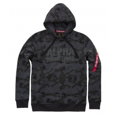 Alpha Indsutries Camo Print Hoody - black camo