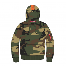 Alpha Indsutries Red Stripe Hoody - woodcamo65