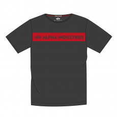 Alpha Indsutries Red Stripe T - fekete