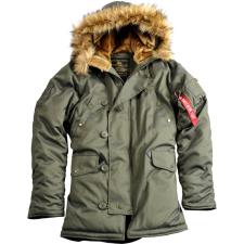 Alpha Industries Explorer női valódi szőrmével - sötét zöld színű kabát női dzseki, kabát