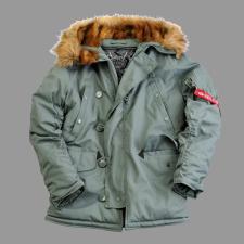 Alpha Industries Explorer - steel zöld férfi kabát, dzseki