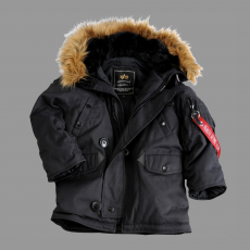 Alpha Industries Kids Explorer - fekete