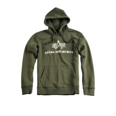 Alpha Industries Logo Vintage Hoody - dark green