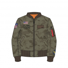 Alpha Industries MA-1 VF Flying Tigers - dark olive camo