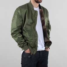 Alpha Industries MA-1 VF LW REVERSIBLE - sage green