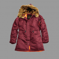 Alpha Industries N3B VF 59 Női - burgundy