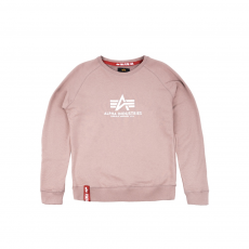 Alpha Industries New Basic Sweater mauve kereknyakú pulóver