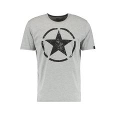 Alpha Industries Star T - greyheather/black