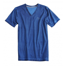 Alpha Industries V-Neck T - replica blue