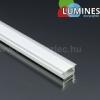 Alu profil eloxált (Type-G) LED szalaghoz, opál bura, PMMA