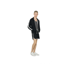American Apparel AARSA7423 unisex rövidnadrág, Navy/White férfi nadrág