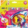 AMOS Üvegfóliafesték készlet, 10 különbözõ szín