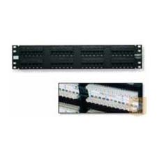 AMP Cat.5E UTP 24 portos patchpanel, 1U, fekete 406330-1 egyéb hálózati eszköz