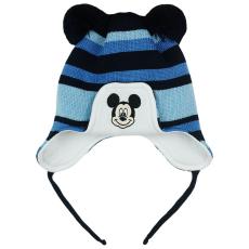 Andrea Kft. Disney Mickey csíkos, kötött, bélelt, bojtos sapka