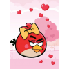 AngryBirds Füzet (27-32) A5 32lap KOCKÁS Angry Birds Heart <20db/cs>
