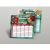AngryBirds Órarend kétoldalas közepes 175x165mm 50 lap/csom Angry Birds Movie