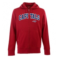 Antigua Washington Capitals fĂŠrfi kapucnis pulóver red Zip - XL