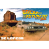 AOSHIMA - Back To The Future Derolean From Part III & Railroad Version