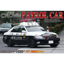 AOSHIMA - Toyota 18 Crown Police Car Metropolitan Police Department Steel Wheel rc autó