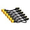 APC Power Cord Kit (6 ea), Locking, C19 to C20, 1.8m