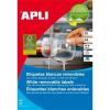 APLI 35,6x16,9 mm, eltávolítható, kerekített sarkú univerzális Etikett (25 lap)