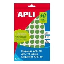 APLI 432 etikett/csomag zöld színű 16 mm kör kézzel írható etikett etikett