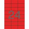 APLI 70x37 mm, színes piros Etikett (100 lap)