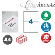 APLI APLI 2 pályás etiket 105x148mm 400 db nyomtató kellék