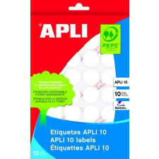 APLI Etikett, 13 mm kör, kézzel írható, APLI, 770 etikett/csomag etikett