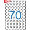 APLI Etikett, 19 mm kör, A5 hordozón, APLI, 1050 etikett/csomag