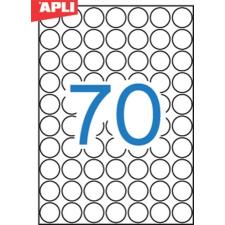 APLI Etikett, 19 mm kör, A5 hordozón, APLI, 1050 etikett/csomag etikett