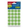 APLI Etikett, 19 mm kör, kézzel írható, színes, APLI, zöld 100 etikett/csomag