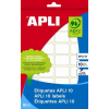 APLI Etikett, 24x24 mm, kézzel írható, APLI, 240 etikett/csomag