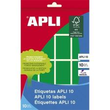 APLI Etikett, 25x40 mm, kézzel írható, színes, kerekített sarkú, APLI, zöld, 128 etikett/csomag etikett