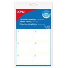 APLI Etikett, 34x53 mm, fagyasztható, kerekített sarkú, A5 hordozón, APLI, 60 etikett/csomag etikett