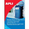 APLI Etikett, 45,7x21,2 mm, poliészter, időjárásálló, kerekített sarkú, APLI, 960 etikett/csomag